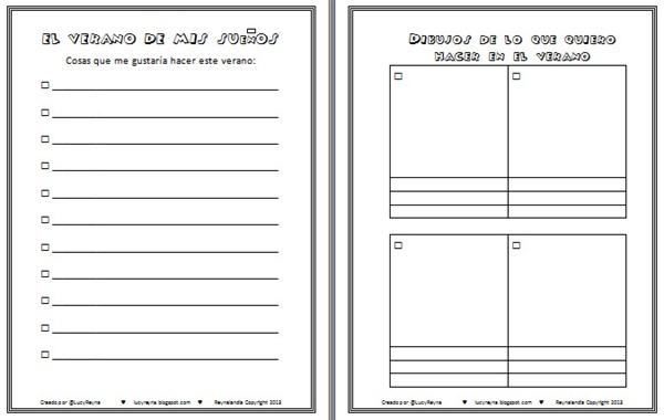 Lista de actividades imprimible en blanco actividades hacer en el verano gratis vacaciones con niños pequeños ideas Reynalandia.bmp