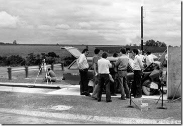 O primeiro crash test realizado no Campo de Prova da Cruz Alta foi feito com um Caravan, em 1975