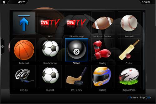 SportsDevil su XBMC