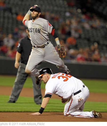 'Dustin Pedroia, Matt Wieters' photo (c) 2011, Keith Allison - license: http://creativecommons.org/licenses/by-sa/2.0/