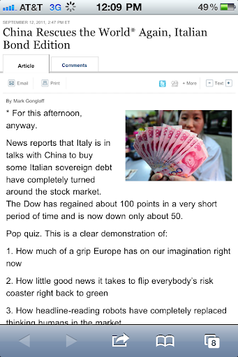 China to buy Italian bonds