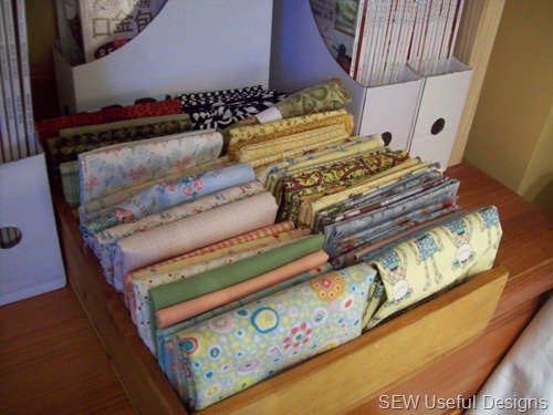 Studio fabric storage