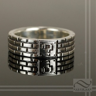 Super Mario Bros Brick Ring from Earth Art Jewelry and Gem