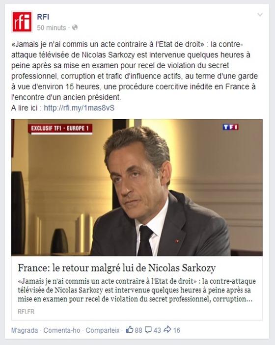 Sarkozy en justícia francesa