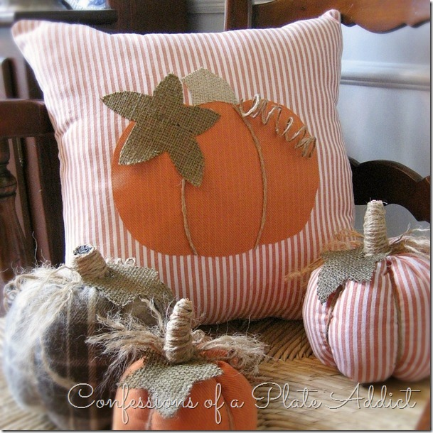 CONFESSIONS OF A PLATE ADDICT A Pumpkin Pillow from Shirts