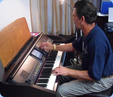 Peter Littlejohn gave us an impromptu song on the Club's Clavinova - rhythms and all!