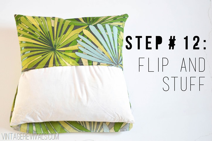 Step by Step Tutorial for Sewing Envelope Pillows