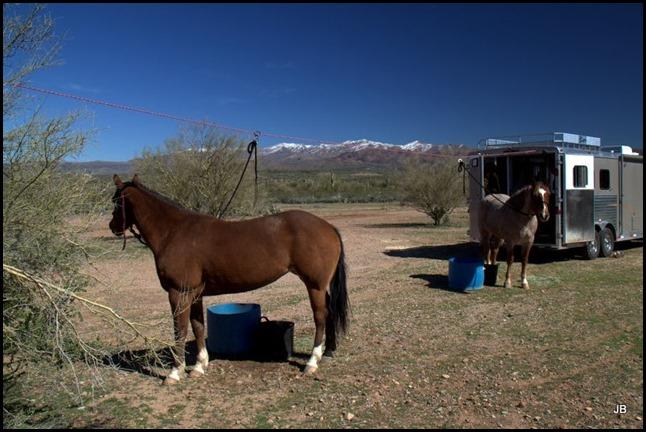 Camp spot at Table Mesa