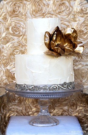 gold-silver-wedding-cake karen tran