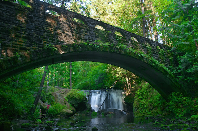 July/August 2012 - 1st Place / Whatcom Falls from under the bridge/ Credit: Paul Conrad