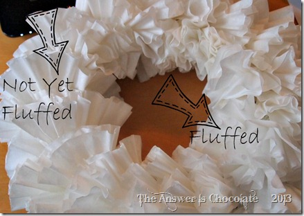 Unfluffed Coffee Filter Wreath