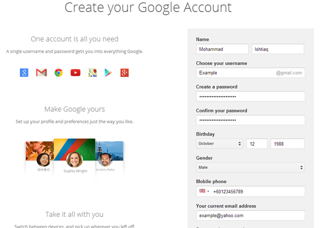 Create Your Gmail Account