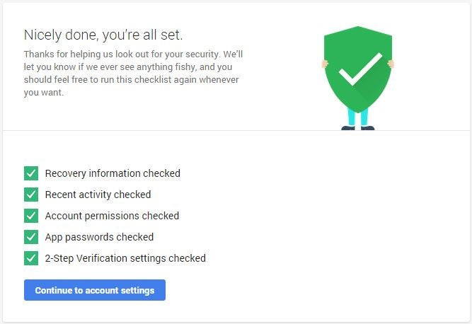 google account checkup