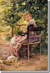 sewing-in-the-garden-approximate-original-size-20x14