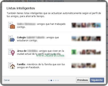 Listas Inteligentes de Facebook