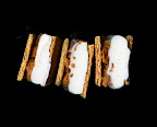 and for dessert... Anna's pumpkin and ice cream scanwiches. they're made with leftover pumpkin pie filling, amazing.