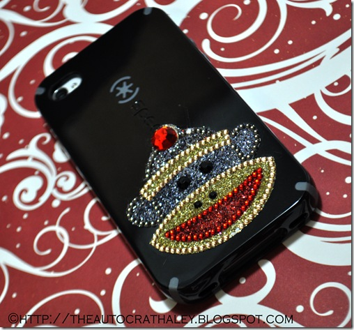 SOCK MONKEY CELL PHONE CASE