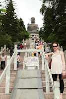 The steps up to the Budda