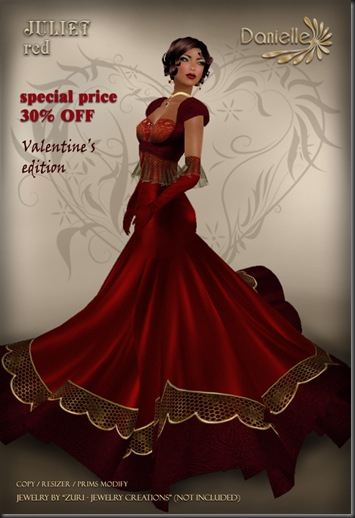DANIELLE Juliet Red ~ Valentines'