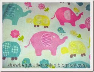 elephant turtle fabric close up
