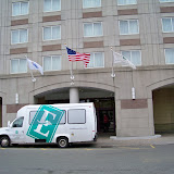 A shuttle is available from the airlines to the host hotel.