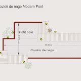 Plan de piscine bois enterrée Modern Pool