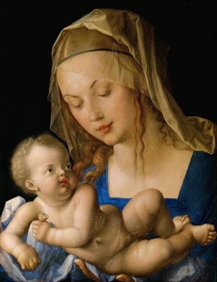 Albrecht Dürer - Virgin and child with a pear