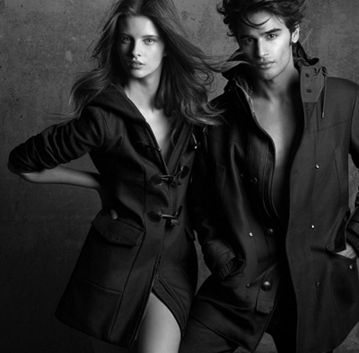 Sona Matufkovà + Dominik Frieg by Philippe Cometti for Aiguille Noire F/W 2011 campaign. Styled by Monica Dolfini