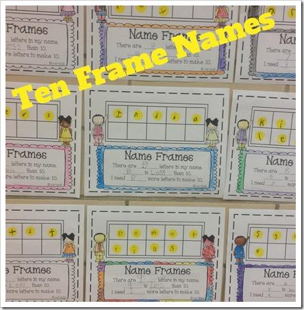 Oceans of First Grade Fun: Correction on Name Ten Frame Freebie