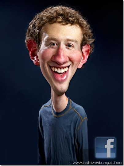 Caricatura Mark Zuckerberg