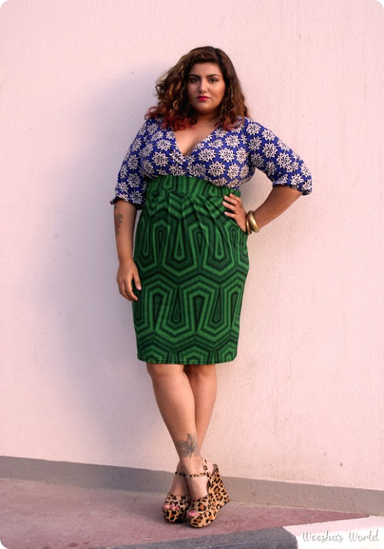 Weesha outfit post Anna Scholz dress from Simply Be Steve Madden Leopard print heels