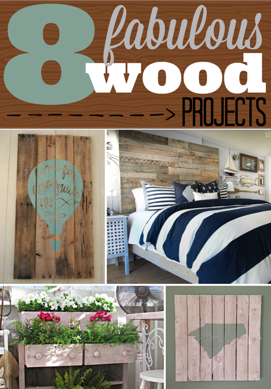 8 Fabulous Wood Projects #pallets #wood #reclaimedwood GingerSnapCrafts.com