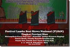 """Tari """"Mamosok"""" di Festival Lomba Seni Siswa Nasional, FLS2N TIngkat Provinsi Riau (7)"""