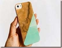 Mint Geometric Wood Print iPhone 5 Case