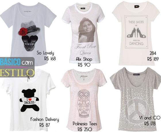 Moda T-shirt: Camisetas cheias de estilo.
