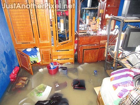 My room with knee-deep flood water