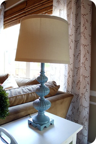 blue vintage lamp