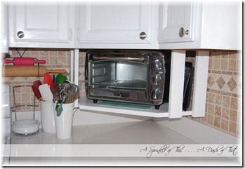 A Sprinkle of This . . . .: DIY Toaster Oven Shelf