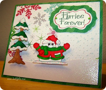 yolie snowman card