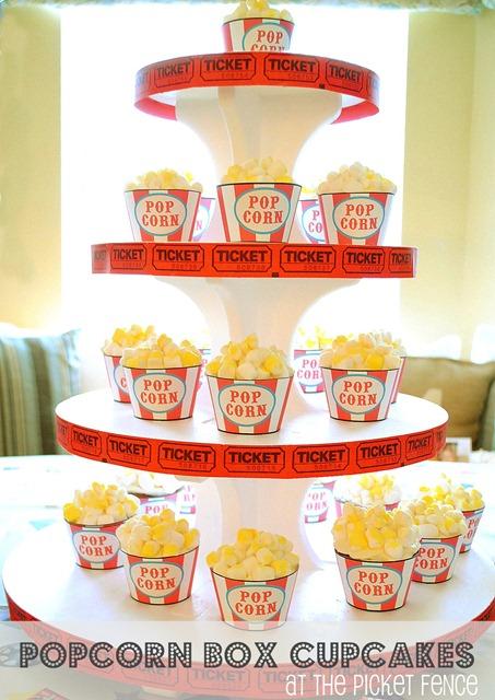 popcorn box cupcakes