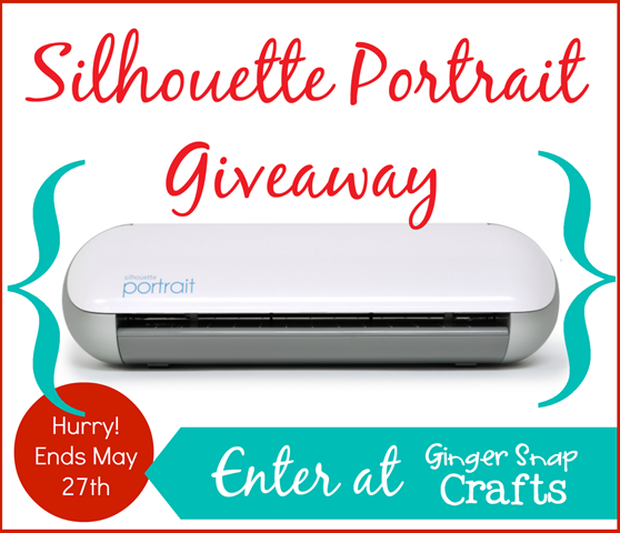 Silhouette Portrait Giveaway @gingersnapcrafts.com #giveaway #silhouette