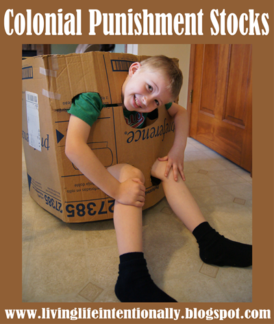 Colonial Punishment Stocks - Homeschool History Project