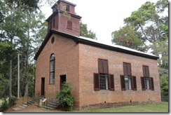 Rocky Springs Methodist Church, built 1837