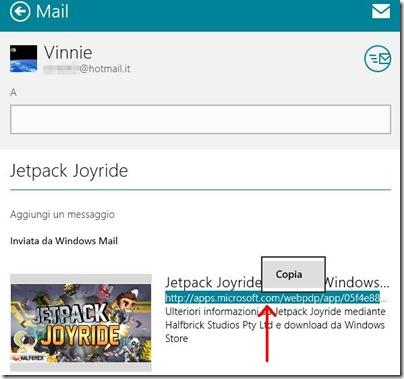 Windows 8 scheda messaggio Mail