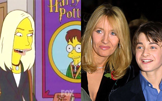 Foto de la version Simpson de Jk Rowling Harry Potter
