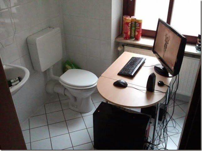 new toilet design having computer,funny picture