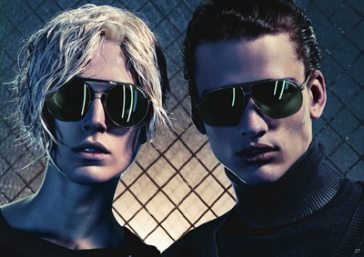 Iselin Steiro + Simon Nessman by Mario Sorrenti for Emporio Armani Collection, F/W 2011-12