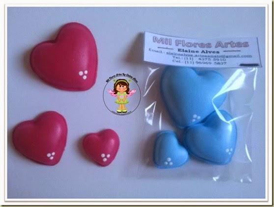 Corações modelados 1
