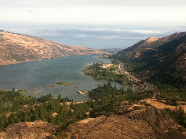 The Columbia River from Rowena Crest