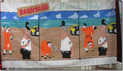 barnyard beach party